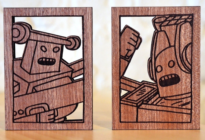 Robots made of wood!