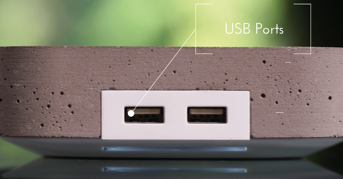 USB Ports for charging any device.