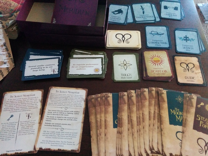 Meridian box contents