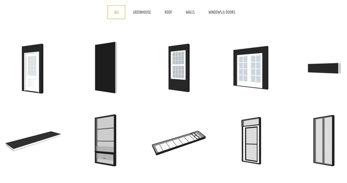 Wall, Roof, and Window Library Parts (click for more info)