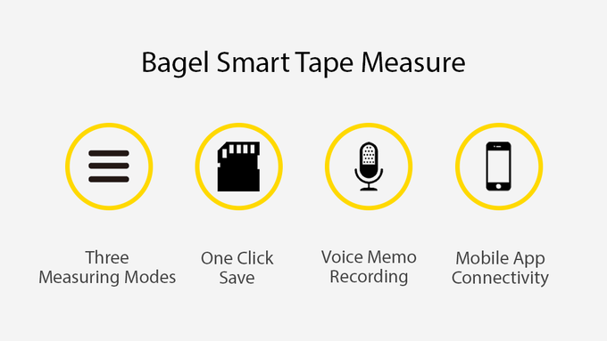 Bagel The Worlds Smartest Tape Measure By Bagel Labs Inc