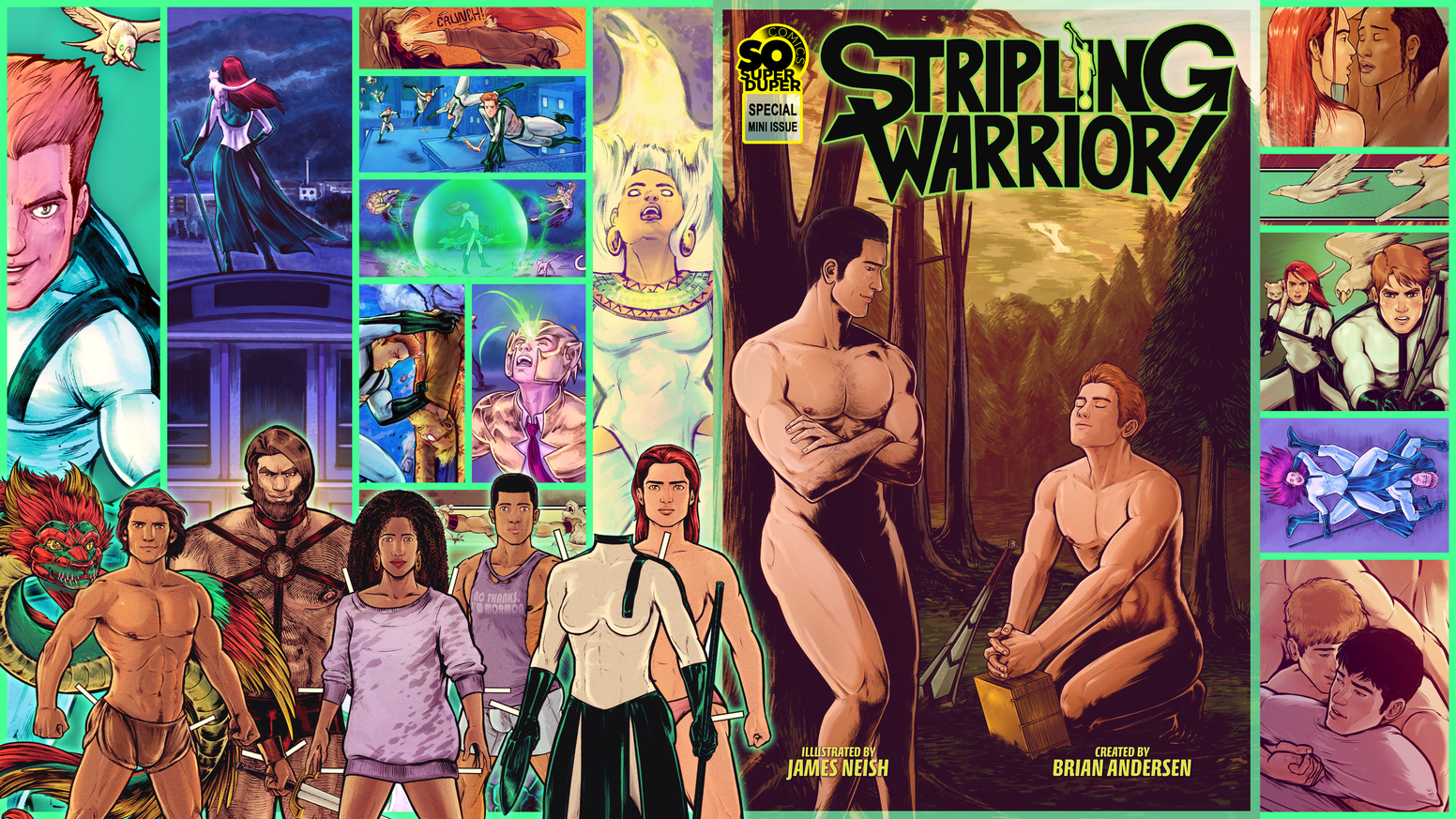 The collected comics of the world's first Gay Mormon Superheroes! Includes an all new Annual Issue, Mini Story and more!