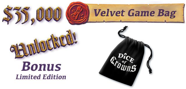 130mm x 90mm Custom Printed Velvet Drawstring Game Bag