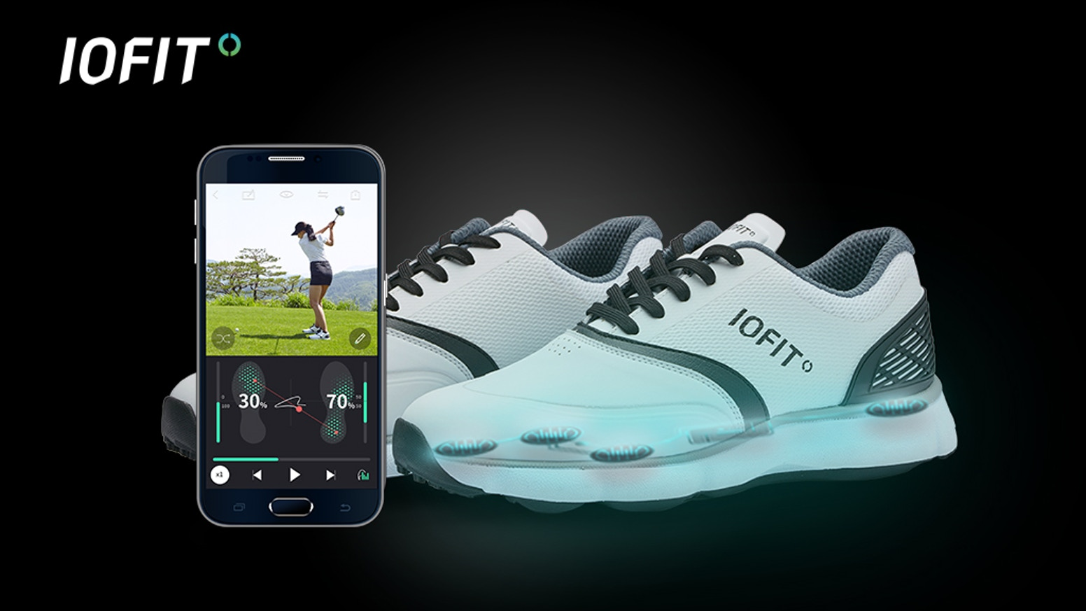 IOFIT is the world's first smart shoes that helps golfers quickly and smartly improve their game while having fun.