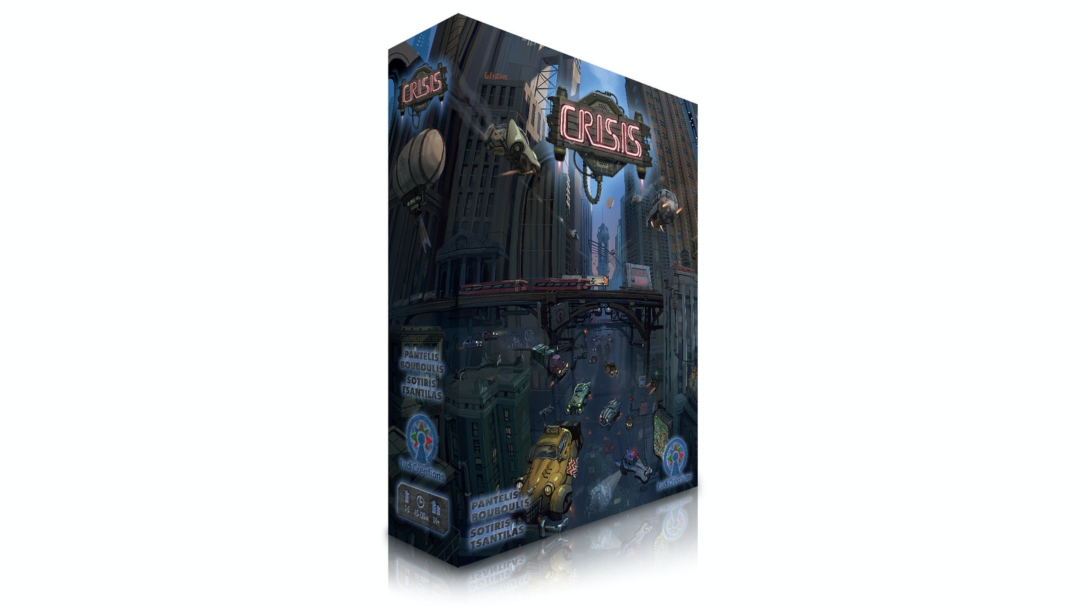 A gritty, dystopian economic game set in a nation on the brink of ruin. Tough decisions & premium components in a dieselpunk setting.