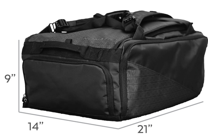 """At 21"""" x 14"""" x 9"""" inches this bag meets domestic and international carry-on standards."""