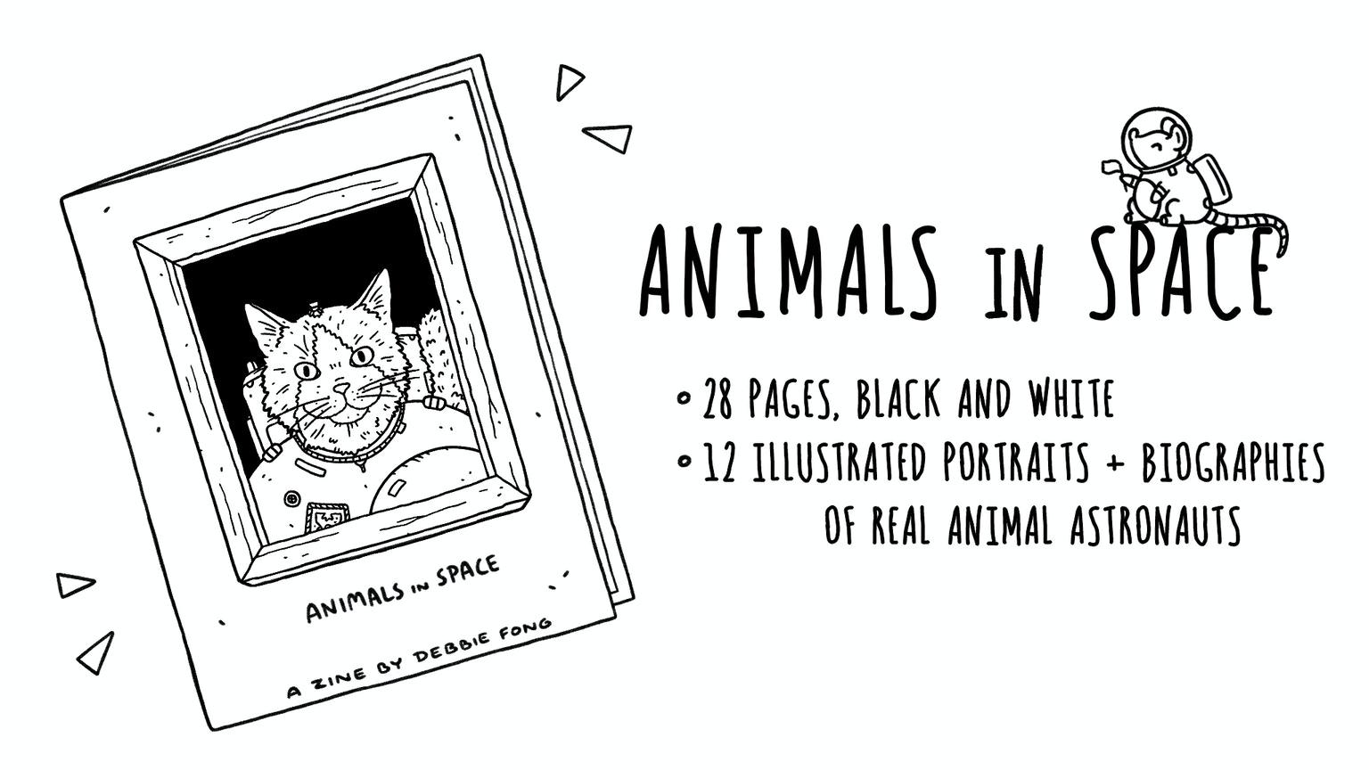 Animals in Space: An Illustrated Zine by Debbie Fong
