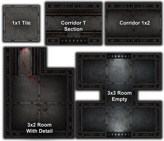Here are a few basic examples of smaller rooms