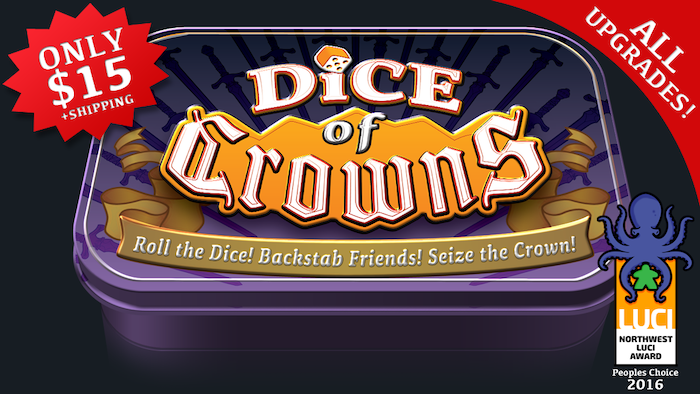 Roll the Dice! Backstab Friends! Seize the Crown!  Dice of Crowns is a fast paced blend of luck and strategy, for 2-6 players.