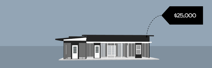 Illustration only. The actual Starter Home design will be crowdsourced via a public contest and built in November 2016.