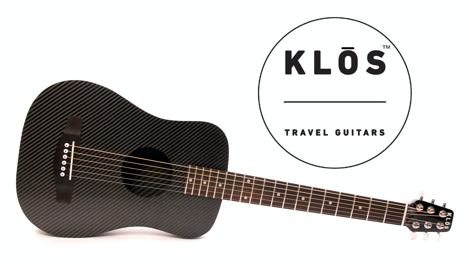 A new and improved KLOS Guitars design featuring a lighter, stronger, and better sounding carbon fiber travel guitar.