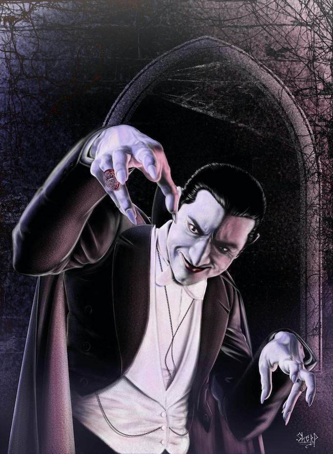 Print of Bela Lugosi as Dracula by Soussherpa