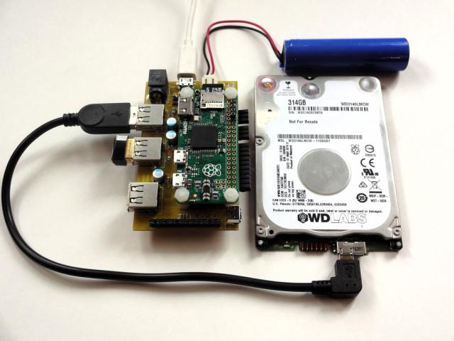 Pi Platter Battery Backed File Server