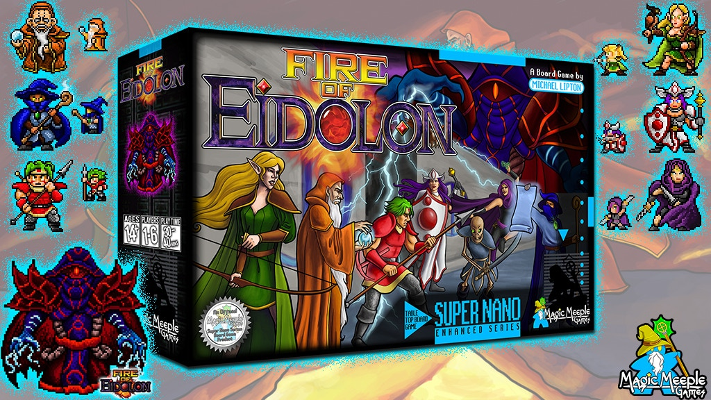 Fire of Eidolon - 16-Bit Inspired Co-Op Dungeon Board Game project video thumbnail