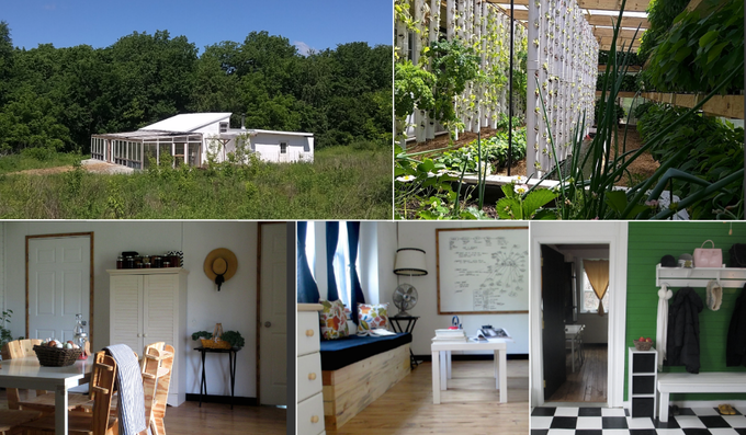 Experimental modular home, built incrementally between October 2013 and November 2015 (click for more info)