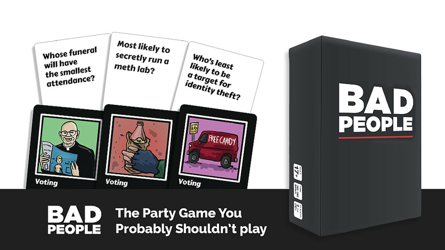 Bad People - The Party Game You Probably Shouldn't Play by Mike Lancaster —Kickstarter