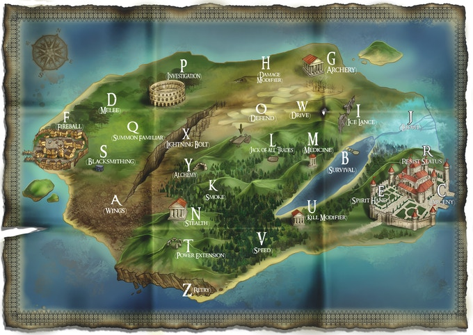 A map of the Isle of Silence... which Challenge will you attempt first?
