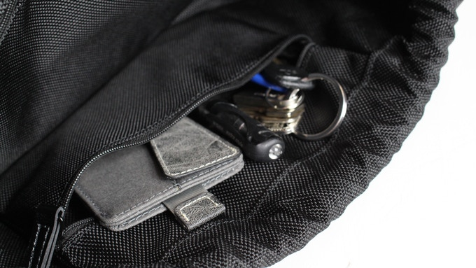 Two inner pockets for smaller items. Wallets, pens, cables, flash-drives, etc