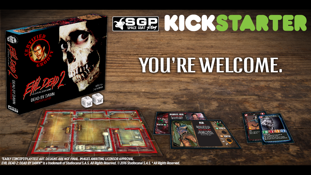 Evil Dead 2: The Official Board Game miniatura de video del proyecto
