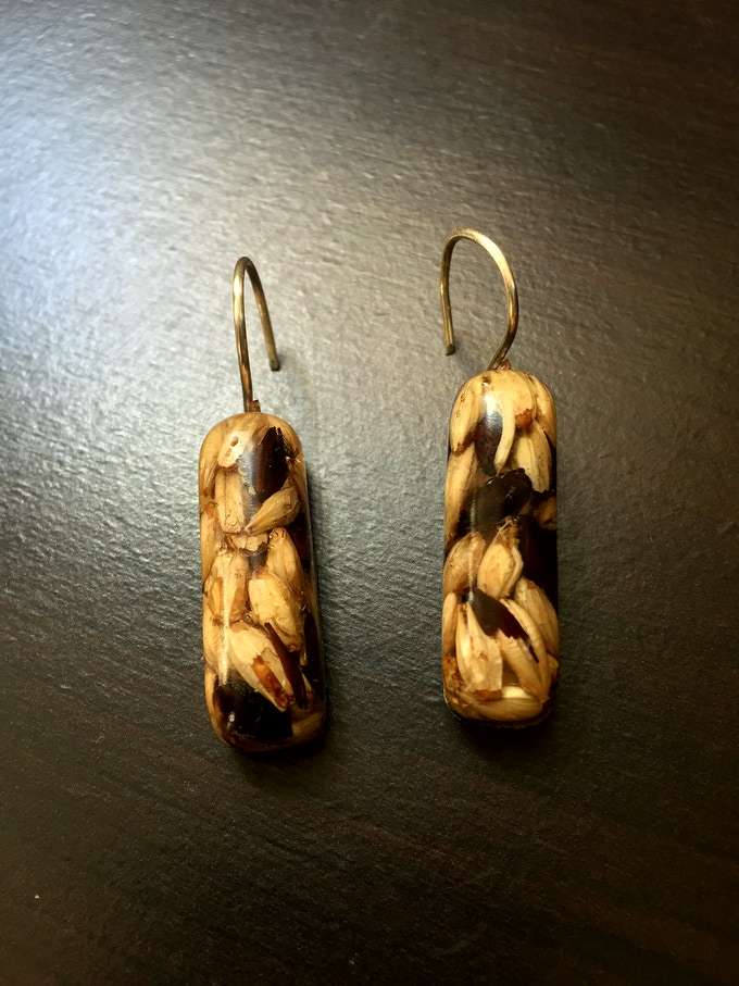 Cheers to Craft Earings (malted barley)