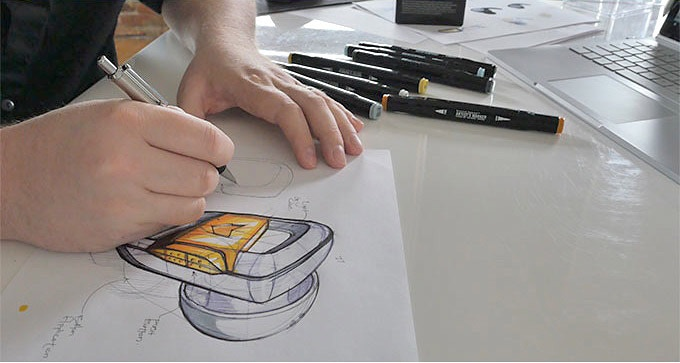 Our initial concept sketches.