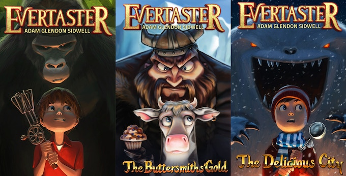 All three books (so far) in the Bestselling Evertaster Series