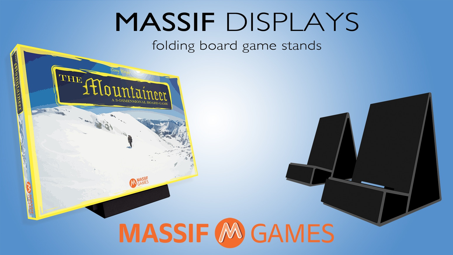 Available now at Massif Games! These stands are perfect for displaying board games, card games, playing cards, books, art, and more.