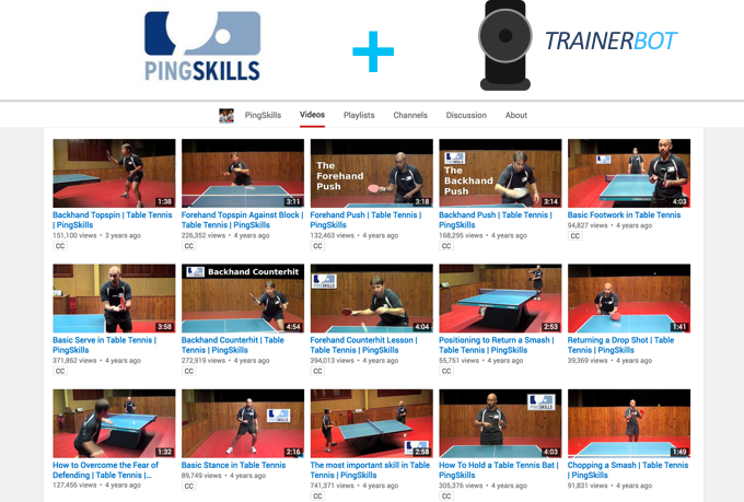 This is a screen shot of PingSkills's Youtube page, not the content of the mini training series