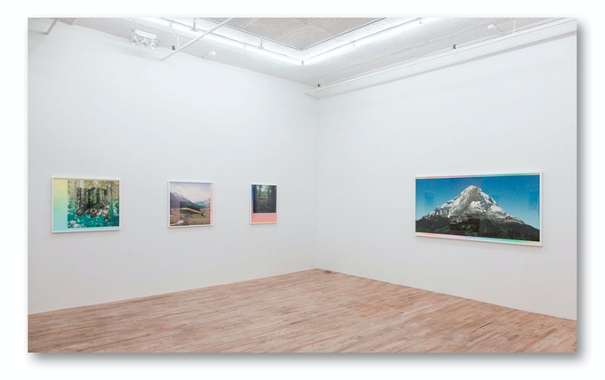 Partial installation view of Emergence exhibition at Postmasters Gallery in NYC
