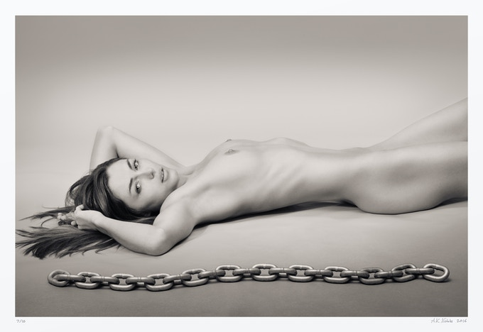 Kyleigh with Chain (from volume one) 20x30 in, edition of 10