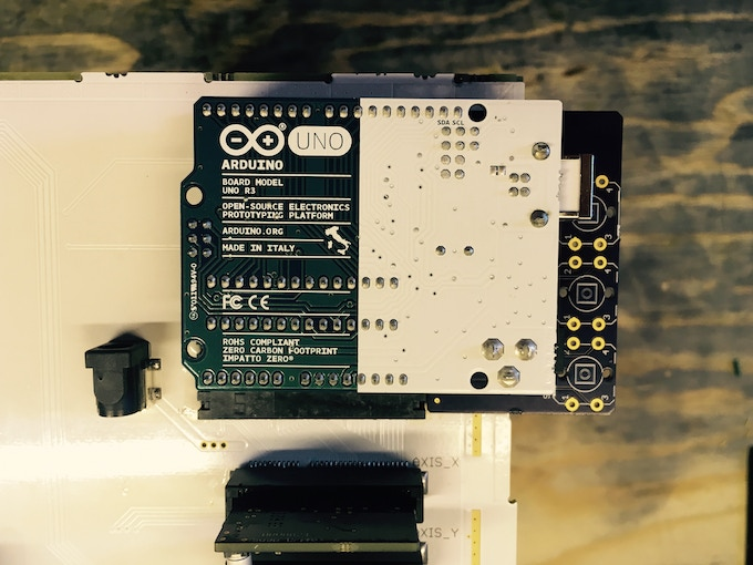 Arduino Uno mounted to the FR4