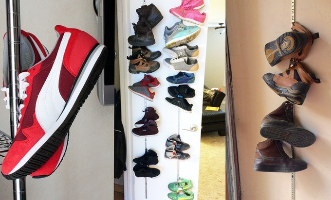Easily pair up shoes and organize them in new places. It's fun for kids to put their shoes away and easy for them to find their pair of shoes later.