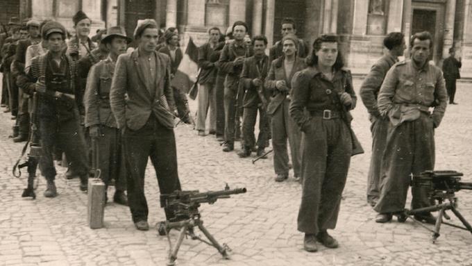 Partisan*innen in Reggio Emilia nach der Befreiung