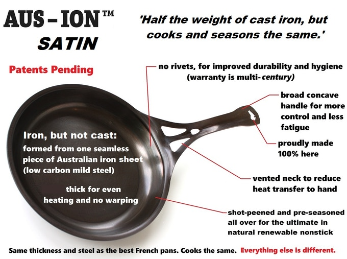 A formidable set of features and benefits has made AUS-ION pans very popular with top chefs, experts, and home cooks in Australia and USA.....and, from May, the UK!