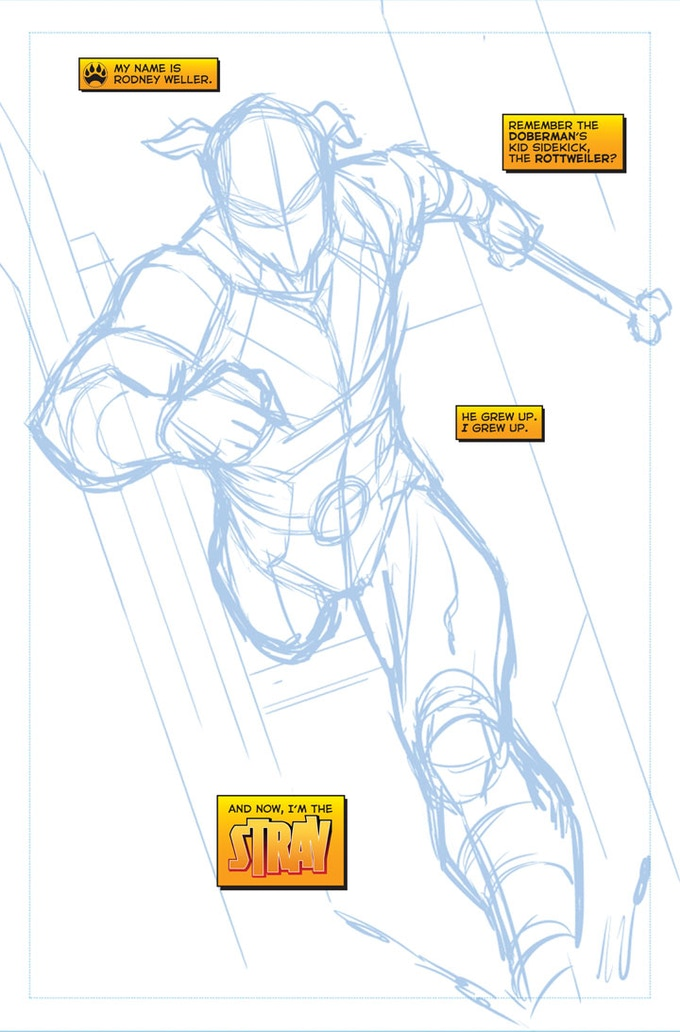 Stray #1 - Page One WIP by Sean Izaakse