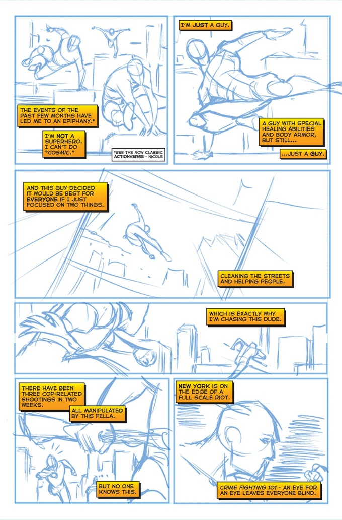 Stray #1 - Page Two WIP by Sean Izaakse