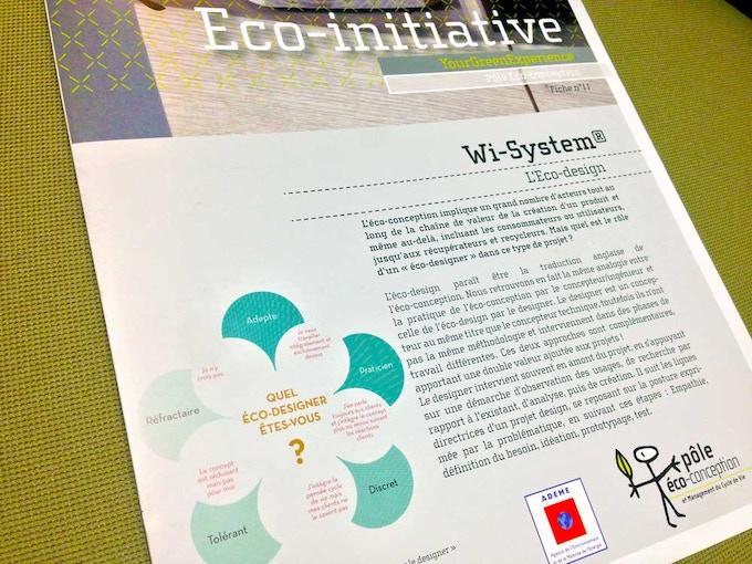Publication réalisée pour le 5è colloque national éco-conception - Wi-System nominé parmi les 8 lauréats