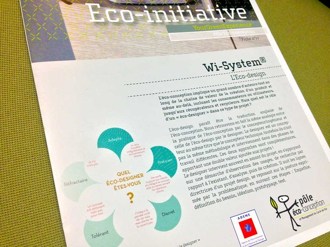 publication of eco-conception made by Wi-System®
