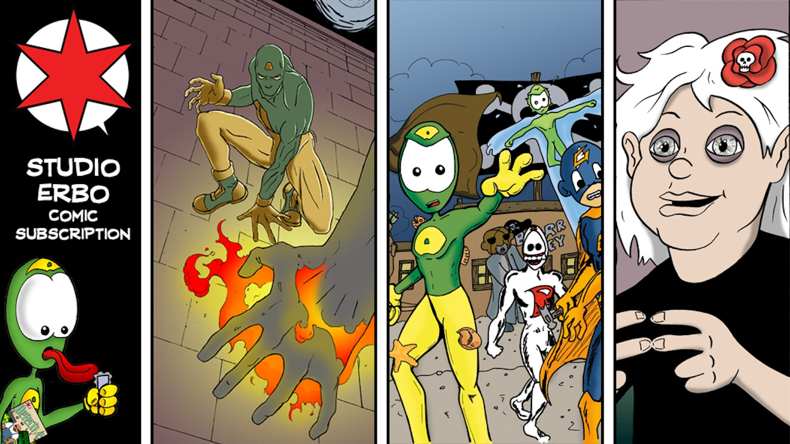 Help us produce six indie comics for release as a 2017 subscription package! One-time payment at one low price!