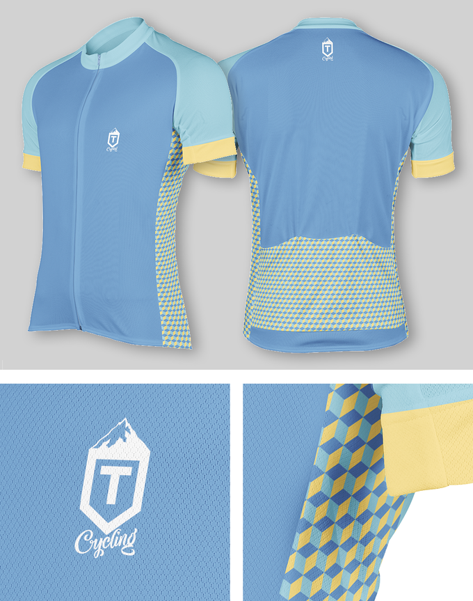 Isometric Jersey - Teal / Yellow