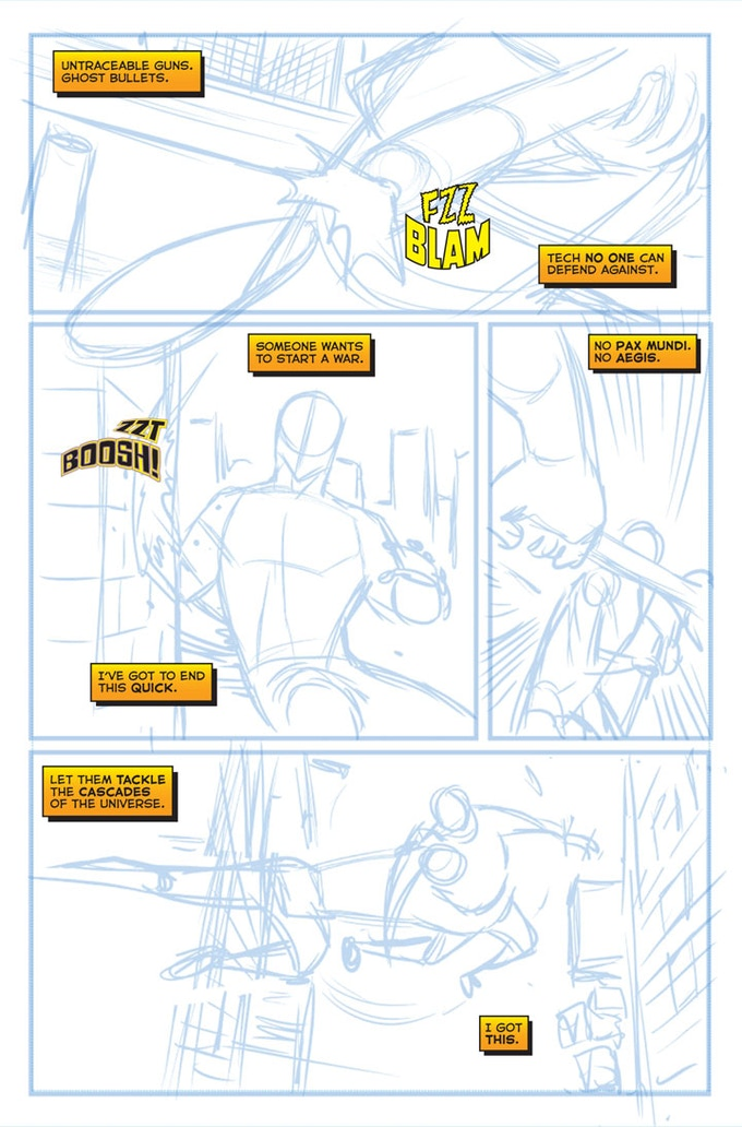 Stray #1 - Page Three WIP by Sean Izaakse