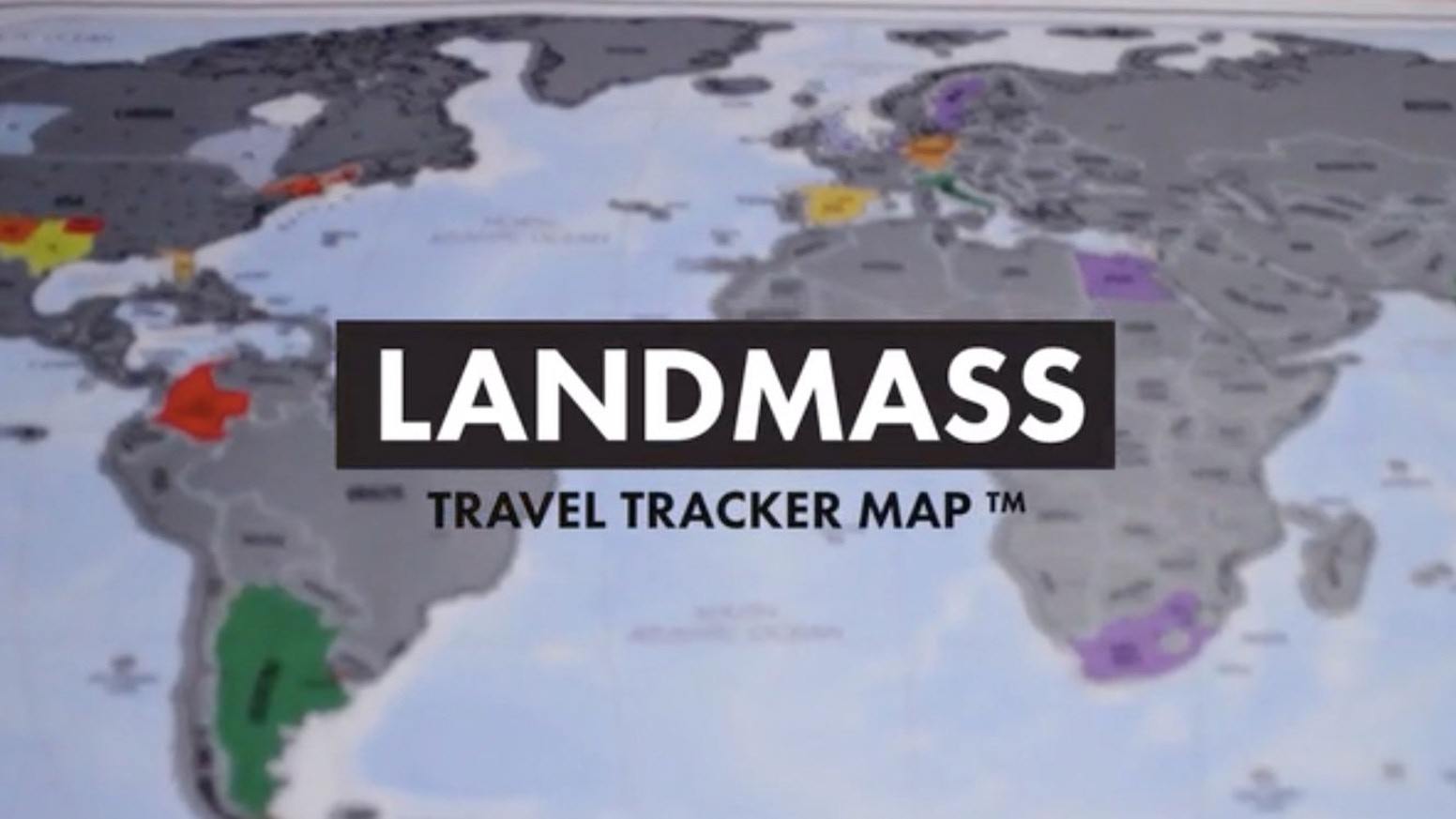 Scratch off your travels with Travel Tracker World Map poster by Landmass. The ultimate personalized world map.