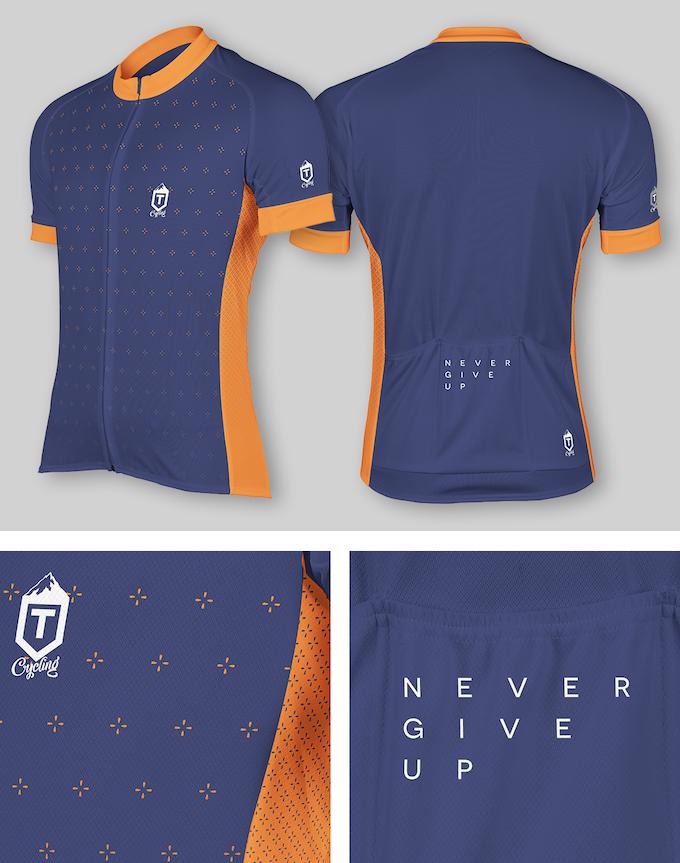 Plus Jersey - Orange / Navy