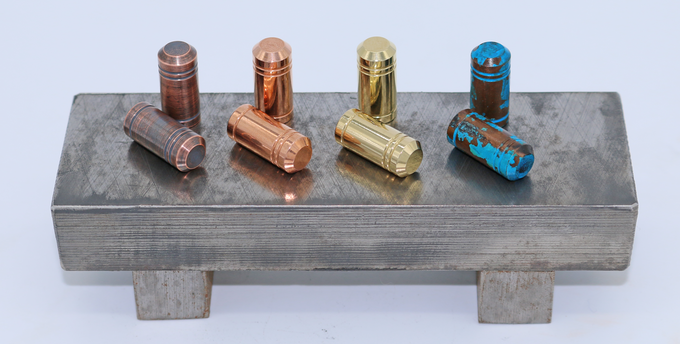 Brushed Copper, Polished Copper, Polished Brass, Shipwrecked Copper