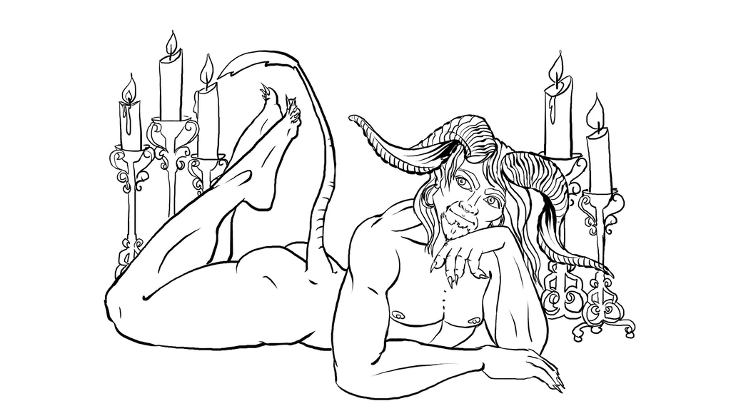 Dungeons After Dark - an adult fantasy pin-up coloring book project video thumbnail