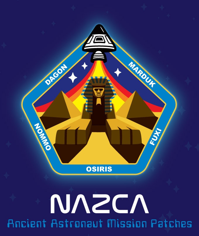 """""""Sphinx Central"""" ancient astronaut mission patch."""