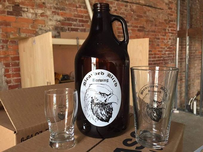 Taster, Growler, and Pint glass