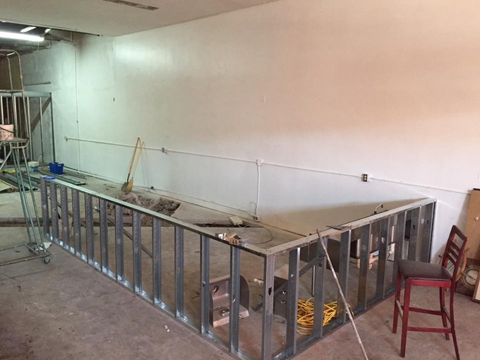 The soon to be bar.