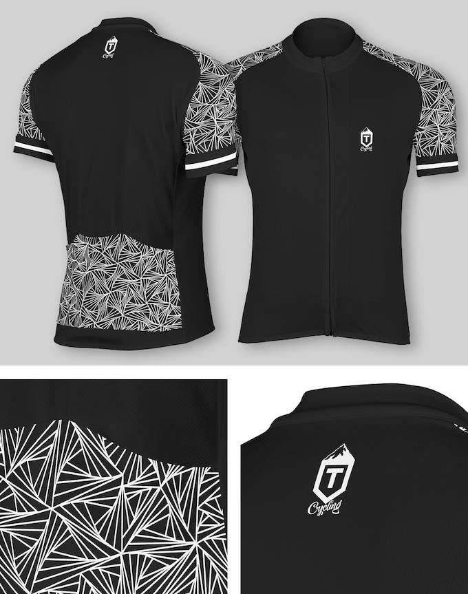 Triangles Jersey - Black / White