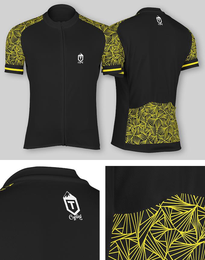 Triangles Jersey - Black / Yellow